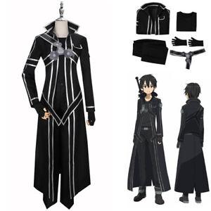 Sword Art Online SAO Anime Kirito Kazuto Kirigaya Suit Cosplay Costume Full Set