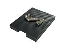 1998-2004 Mustang Carbon Fiber Stainless Engine Fuse Box Cover w/ Cobra Emblem