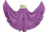 TEAL Skirt 12 Yard Flamenco Cotton Gypsy   Belly Dance Tribal Ethenic Jupe Tiere
