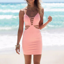 Sexy Women's Bandage Backless Bodycon Evening Party Cocktail Club Pencil Dress