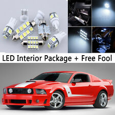 6X Bulb Car LED Interior Lights Package kit For 1994-2004 Ford Mustang White NQ