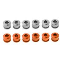 MagiDeal 12 Pieces Bicycle Crankset Screw Chainring Bolts Orange &Titanium