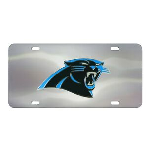 Fanmats NFL Carolina Panthers Chromed Steel Diecast Emblem Front License Plate