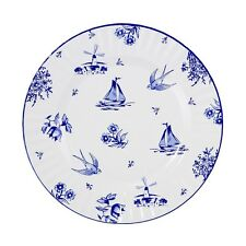 Blue & White Large Paper Plates - Afternoon Tea and Garden Party decorations