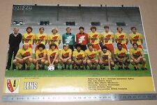CLIPPING POSTER FOOTBALL 1980-1981 RACING CLUB LENS RCL BOLLAERT SANG & OR