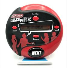 Scrabble Catch Phrase Electronic Handheld Travel Party Game Night Hasbro Red