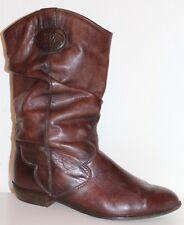 ARA 80er 80s TRUE VINTAGE VTG Leder Stiefel Stiefeletten LEATHER SLOUCH BOOTS 38