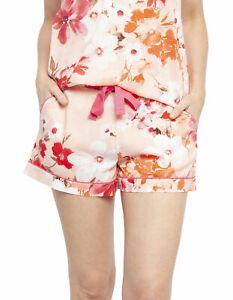 Cyberjammies 4427 Darcie Coral Orange Floral Print Cotton Pyjama Short 22