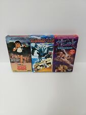 Lot Of 3 Anime Vhs Tapes orguss 02, streetfighter, barefoot gen rare English dub