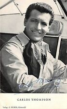 B82779 carlos thompson  movie star autograph front/back scan