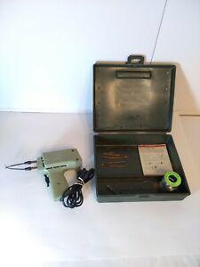 Sears Craftsman 100 Soldering Gun Iron Hi Low Heat Settings w/Case & solder wire