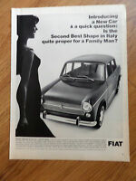 1966 Fiat 1100 R Sedan Ad  The Second Best Shape in Italy