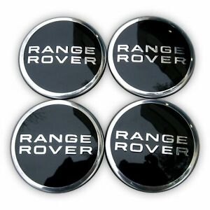Set Of 4 Range Rover Wheel Center Hub Caps HSE Land Rover Supercharged Black