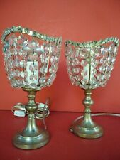 Pair of Art nouveau table lamps silver plated bronze Made in France