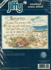 Sunset HE SPOKE 16700 Footprints Counted Cross Stitch Kit Jiffy 1999 Dimensions