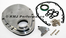 SBC Chevy Polished Aluminum Timing Chain Cover Kit w/ Tab - 283 305 327 350 400