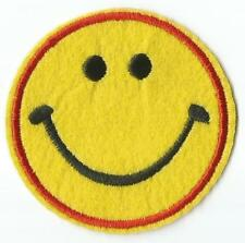 Smiley Face Round Patch - Sew-on / Iron-on Patch