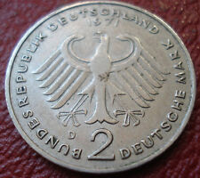 1971-D GERMANY 2 MARK IN EF CONDITION (KM# 124)