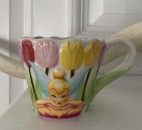 3D Tinkerbell Tea Cup Mug Disney Store Fairies tulips