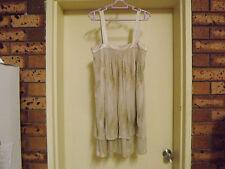 Truese 100% Silk Chandelier Mini Dress with Sequins sz 8