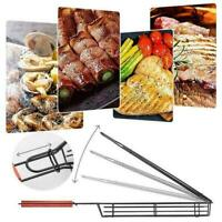 Barbeque Kabob Grillkorb Rack Holzgriff Outdoor BBQ Tool 2020 S0A3