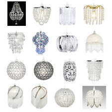 Glass clip on lampshades lightshades ebay modern chandelier style ceiling pendant light shade acrylic crystal glass shades aloadofball Images