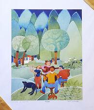 "Alaskan Artist Rie Munoz ""Summer Quartet"" Limited Edition Print"