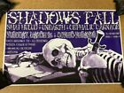 SHADOWS FALL UNEARTH CONCERT GIG POSTER 11 X 17 INCHES GOTHIC THEATRE, COLORADO