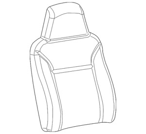 Genuine GM Seat Back Cover 19151715