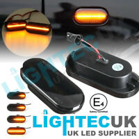 FORD SEAT SKODA VW BLACK SMOKED DYNAMIC FLOWING LED SIDE REPEATERS INDICATORS