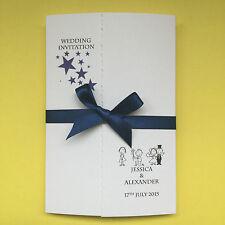 20 Personalised Wedding Invitations Gatefold Style