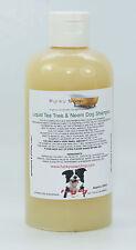 1 bottle liquid Tea Tree & Neem Oil Dog Shampoo 100% Natural Handmade 250ml