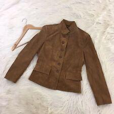 NWT Chadwicks Women's Size 8 100% Leather Jacket Blazer Tan Genuine Suede Lined