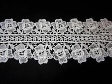 "Rose Design Venise Lace - 2 3/4"" Wide - 10 yds for $19.99 - White Rayon"