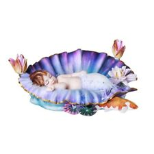 Cradle Mermaid Baby Fairy Figurine Faery Figure Sheila Wolk faerie statue