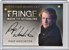 Fringe 3 & 4 Cryptozoic Autograph A15 Philip Winchester
