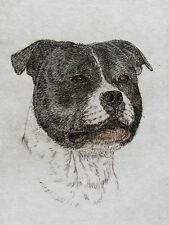 Geoffrey Lasko - Staffordshire Bull Terrier - Original Etching S&N - Free Ship