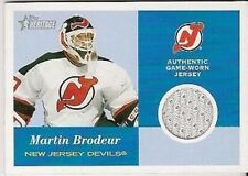2001 Topps Heritage  Game Used Jersey Martin Brodeur