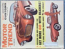 1959 MAY MOTOR TREND MAGAZINE BEST WESTERN CUSTOMS 400 MPH RECORD CAR GET MORE G