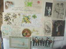 12375 12 AK Neujahr Glückwunsch Geburtstag Kitsch  um 1900 Lithos geprägt 12 PC