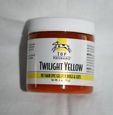 Top Performance Pet Hair Dye Gel 4 oz. TWILIGHT YELLOW