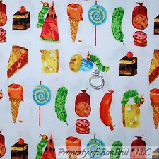 BonEful Fabric FQ Cotton Quilt Baby Book Carle L Food Ladybug Hungry Caterpillar