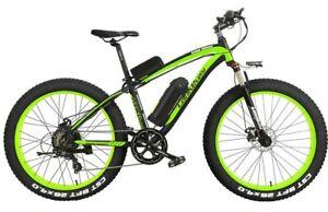 """26"""" Electric Mountain E-Bike Shimano Fat Tire 1000W 48V 18AH Lithium Battery"""