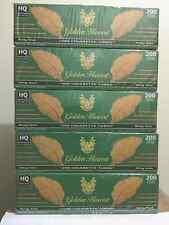 Golden Harvest Green (Menthol) King Size Cigarette Tubes - 5 Boxes