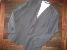 Club Monaco navy/white pinstripe Linen suit jacket 40R pants 31x33 slim fit