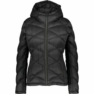 MICHAEL KORS Women's Padded Packable Hooded Down Feather Jacket, Black, size L