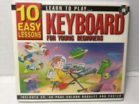 SEALED Learn to Play KEYBOARD for Beginners CD Booklet Poster 10 EASY LESSONS