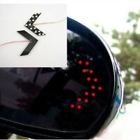 One Pair Red 14 SMD LED Arrow Panel Car Rear Mirror Indicator Turn Signal Lights