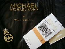 NWT$150 MICHAEL KORS MK Logo icon Detachable Hood 90% Down Fitted Vest Sz S