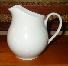 "OLD VINTAGE WHITE PORCELAIN CREAM MILK CHILD'S PITCHER MADE IN BRAZIL 5"" TALL"